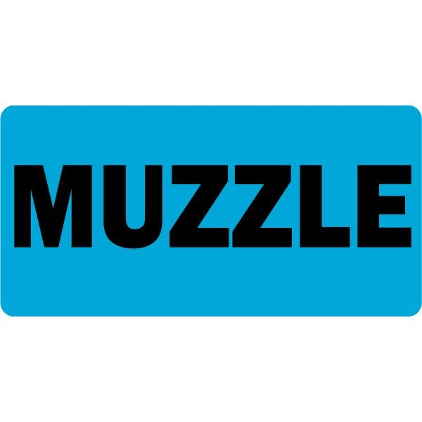 Muzzle Veterinary Labels