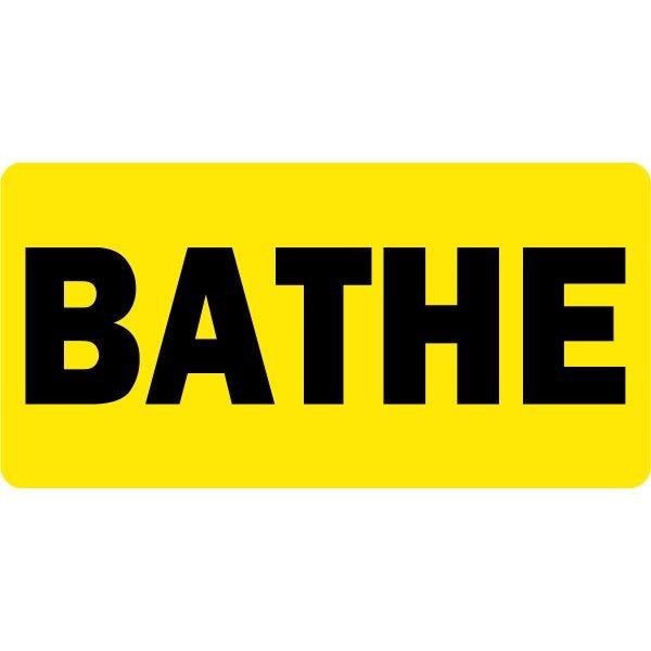 Bathe Veterinary Labels