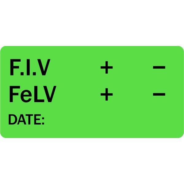 F.I.V FeLV Veterinary Labels