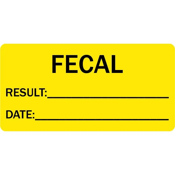 Fecal Result / Date Veterinary Labels