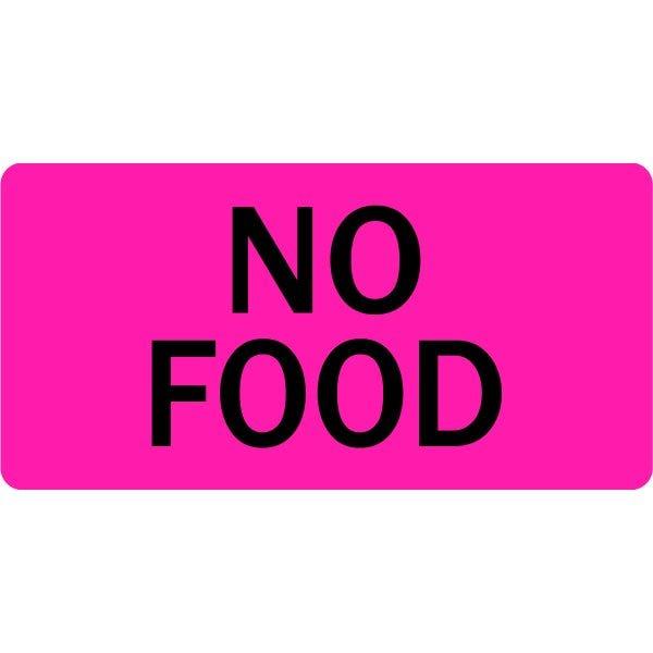 No Food Veterinary Labels
