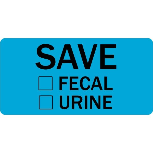 Save Stool Urine Veterinary Labels