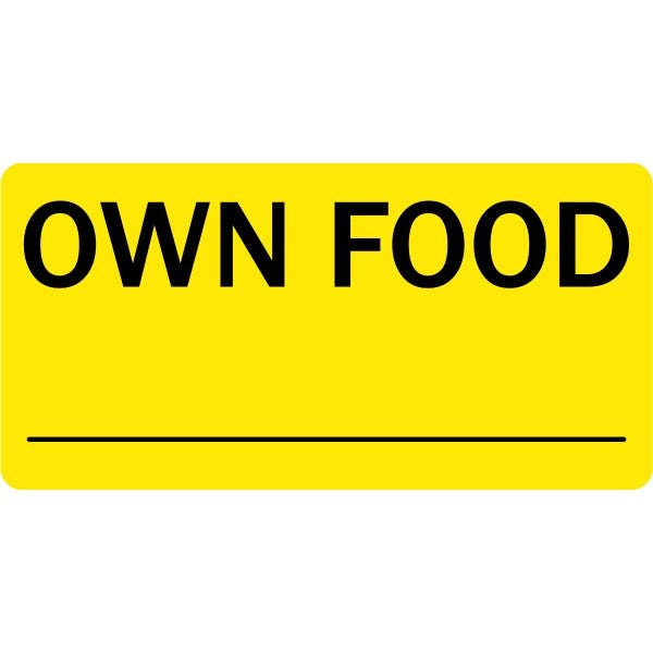 Own Food Veterinary Labels