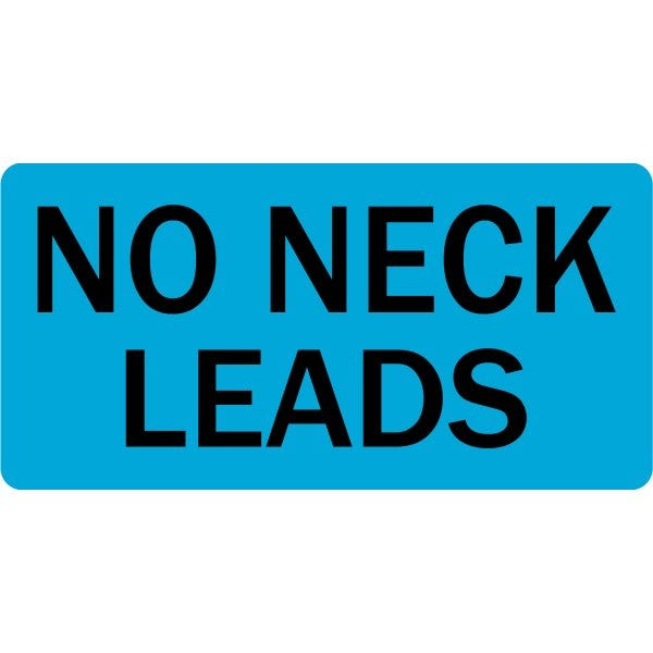 No Neck Leads Veterinary Labels