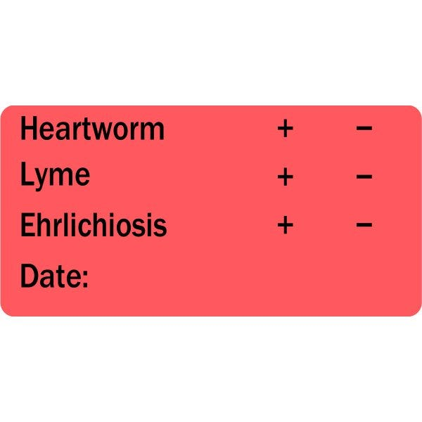 Heartworm, Lyme, Ehrlichiosis Veterinary Labels