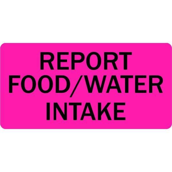 Report Food Water Intake Veterinary Labels