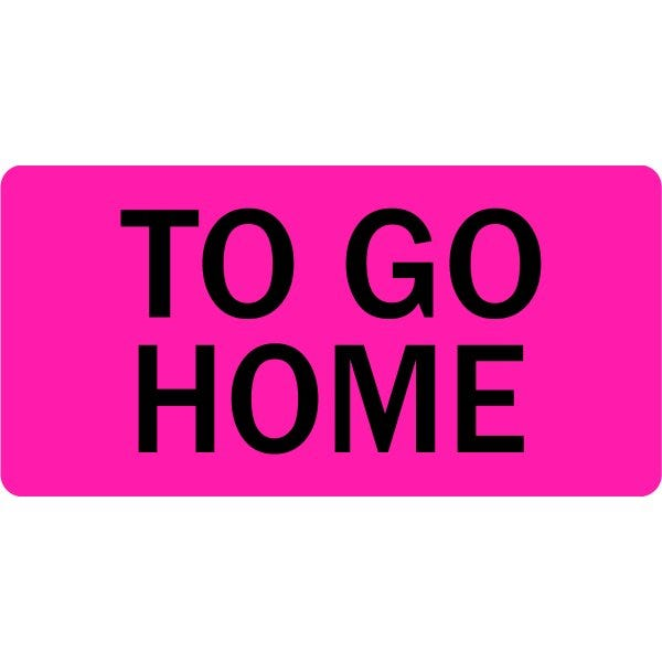 To Go Home Veterinary Labels