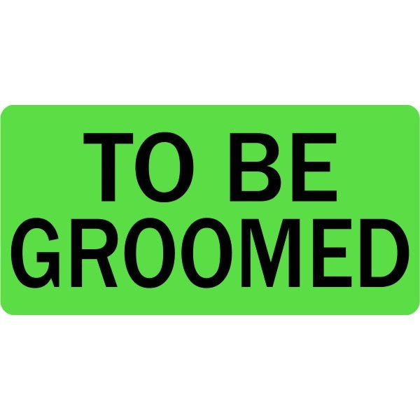 To Be Groomed Veterinary Labels