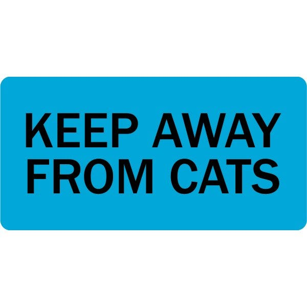 Keep Away From Cats Veterinary Labels