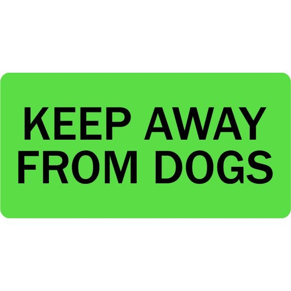 Keep Away From Dogs Veterinary Labels