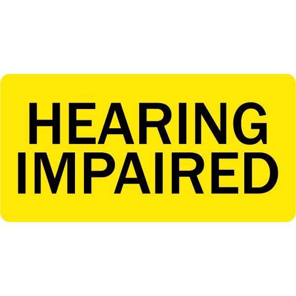 Hearing Impaired Veterinary Labels