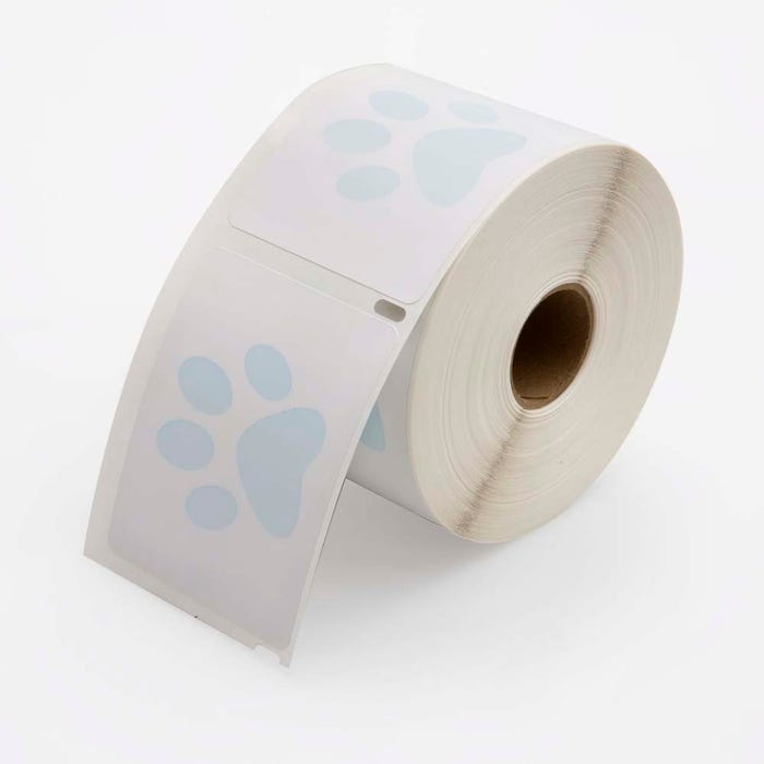"Veterinary Prescription Labels with Paw Print 2-1/8"" x 2-3/4"""