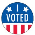 I Voted Stickers - Stars and Stripes Design