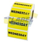 "Wednesday Inventory Labels 2"" x 1"""