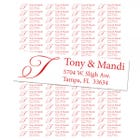 Monogram Return Address Labels - Calligraphy