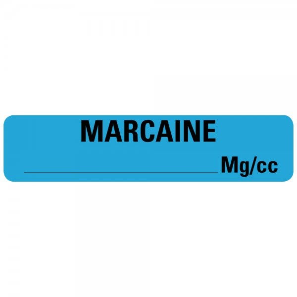 MARCAINE MG/CC Drug Syringe Labels