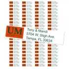 University of Miami Hurricanes Custom Return Address Labels