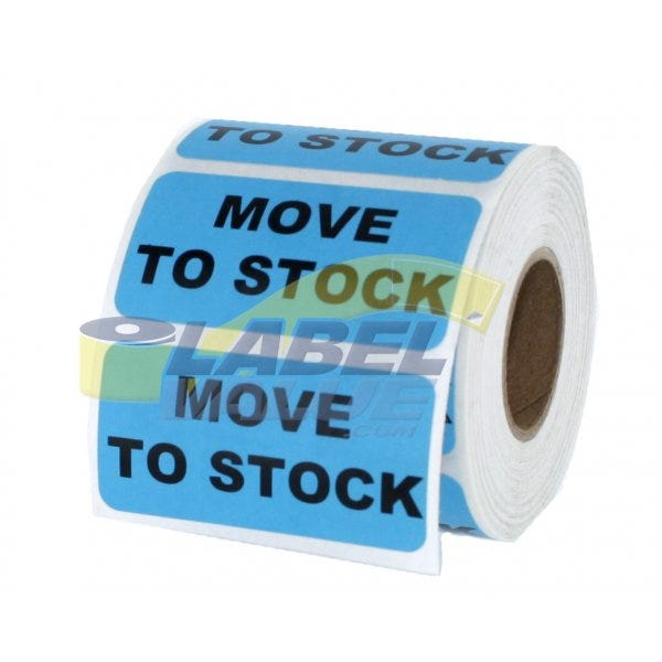 "Move to Stock Inventory Labels 2"" x 1"""