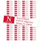 University of Nebraska Cornhuskers Custom Return Address Labels