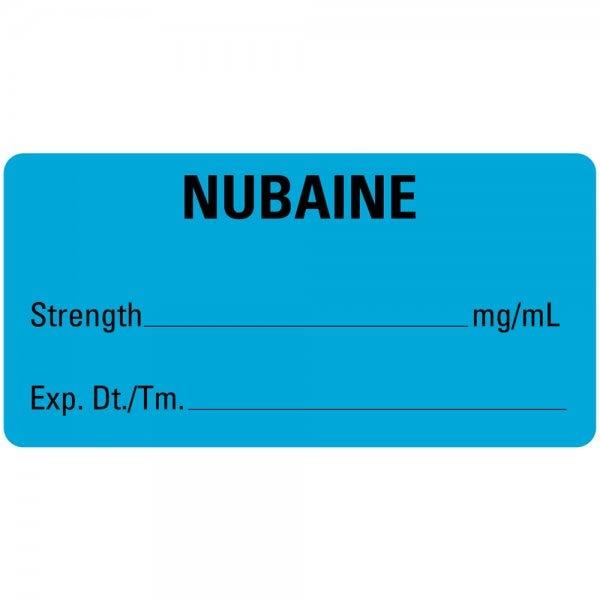 NUBAINE Medical Labels Blue