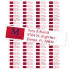 University of Mississippi Ole Miss Custom Return Address Labels