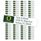 University of Oregon Ducks Custom Return Address Labels