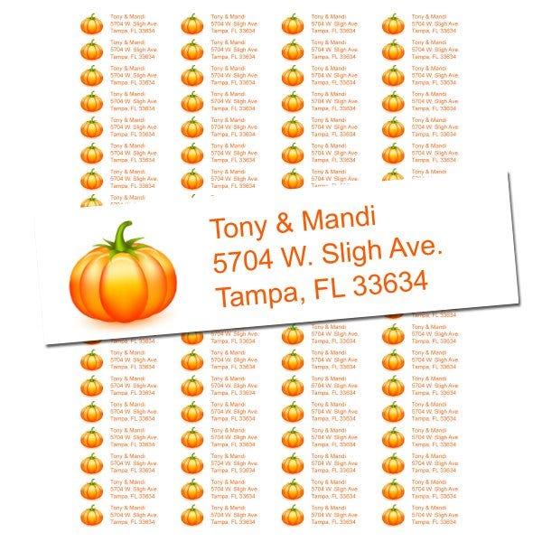 The Great Pumpkin Return Address Labels