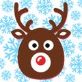 "Reindeer Labels 1.5"""