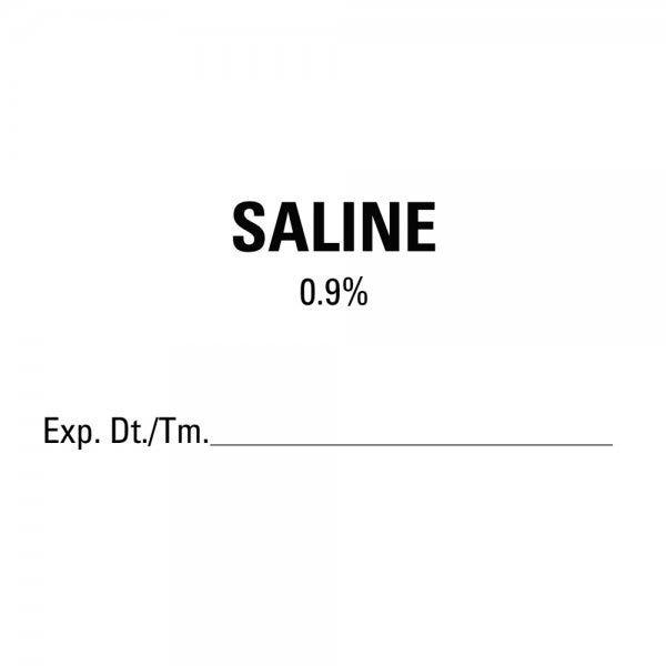 SALINE Expiration Date Medical Labels