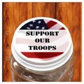 Support Our Troops Labels 1-1/2""