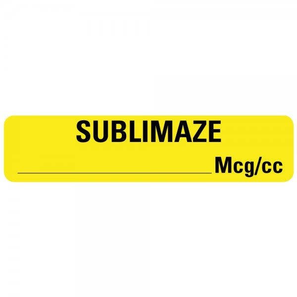 SUBLIMAZE MG/CC Drug Syringe Labels