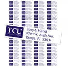 Texas Christian University Horned Frogs Custom Return Address Labels