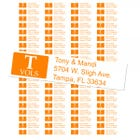 University of Tennessee Volunteers Custom Return Address Labels