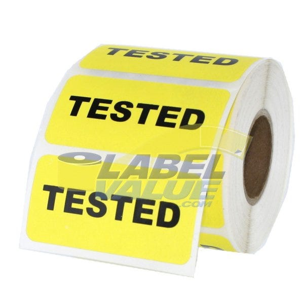 "Tested Inventory Labels 2"" x 1"""