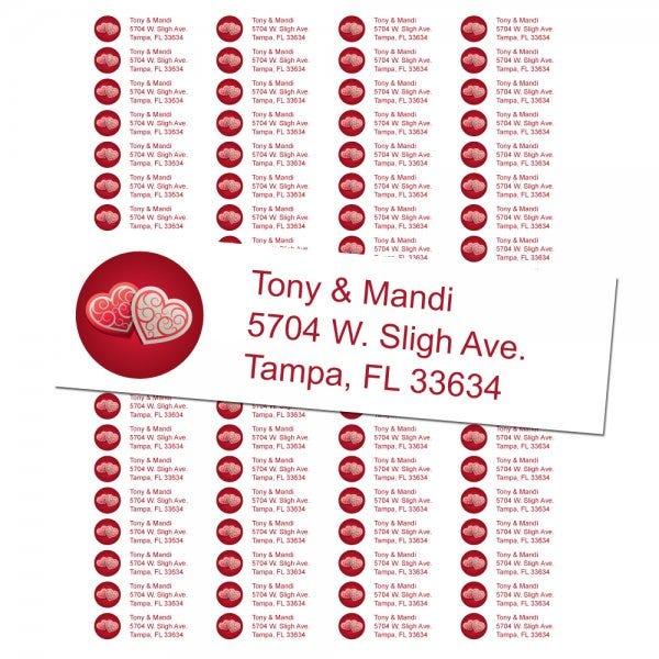 Valentine's Day Return Address Labels