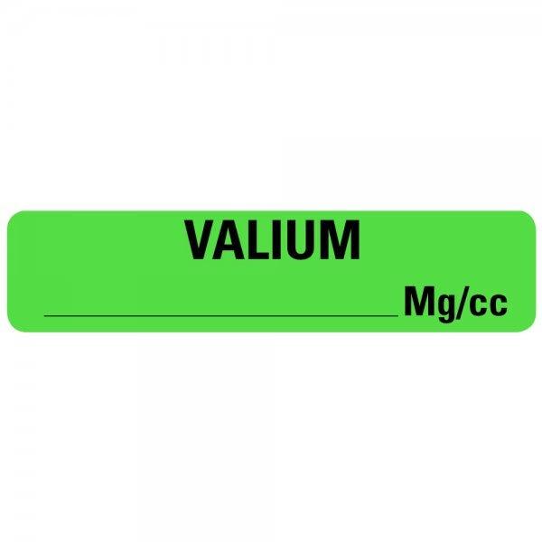 VALIUM MG/CC Drug Syringe Labels