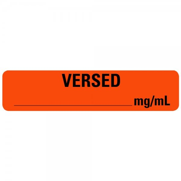 VERSED Medical Labels