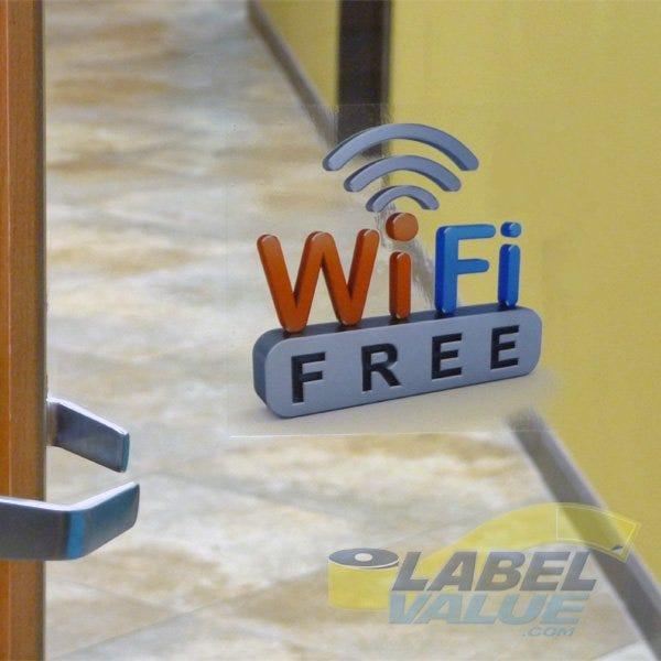 """Free Wifi Window Decal Cling - 5""""x 5"""""""