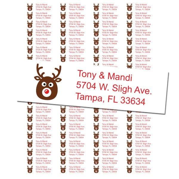 Reindeer Return Address Labels