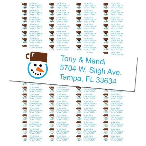 Snowman Return Address Label