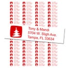 Christmas Tree Return Address Labels