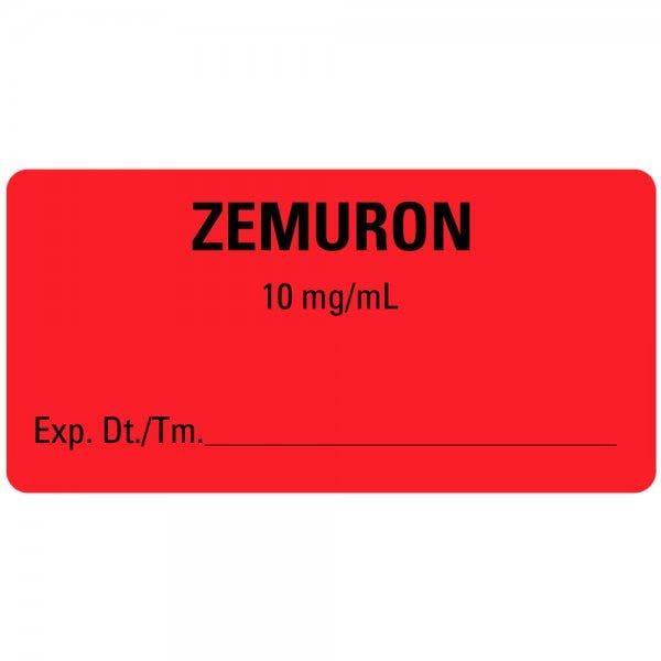 ZEMURON Expiration Date Medical Labels