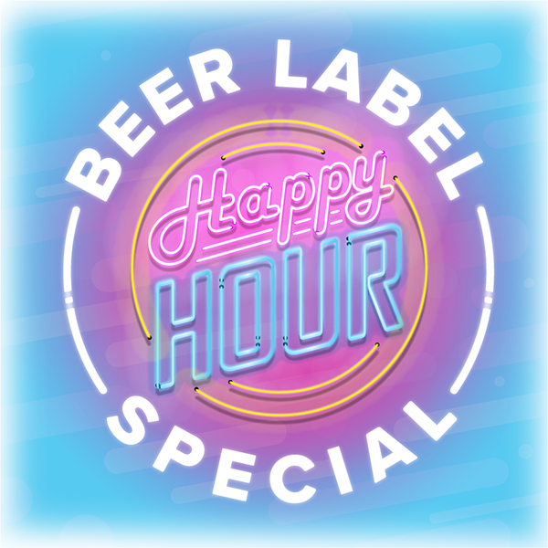 beer label happy hour special