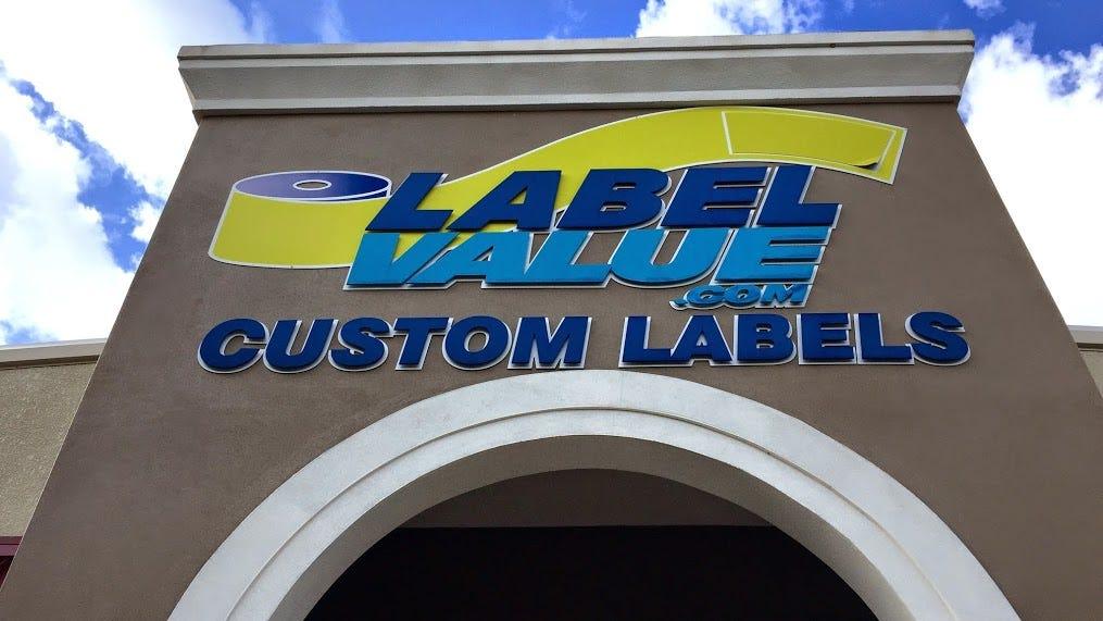 Tampa custom labels printing at LabelValue.com