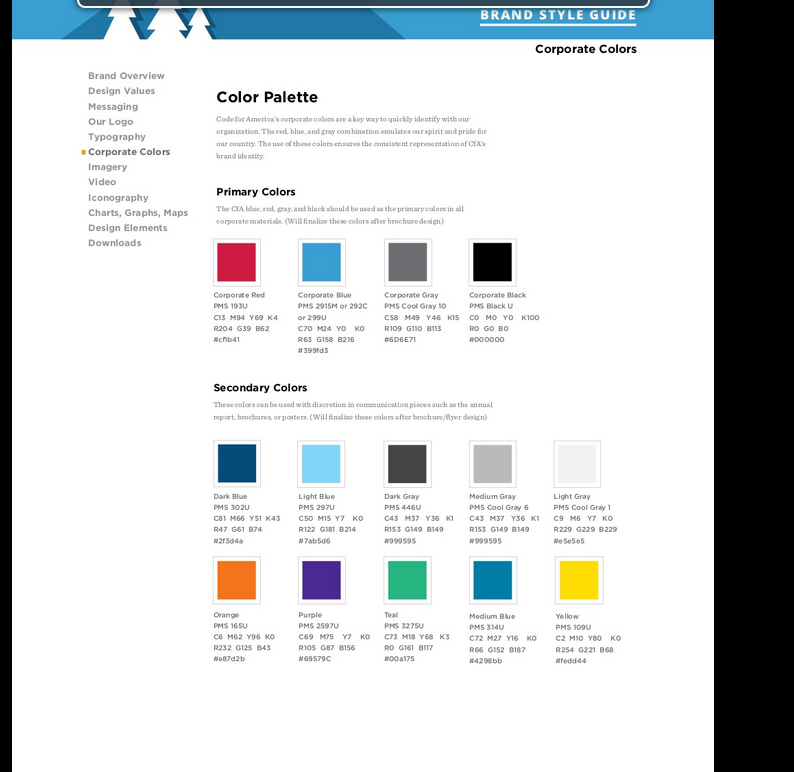 style guide colors