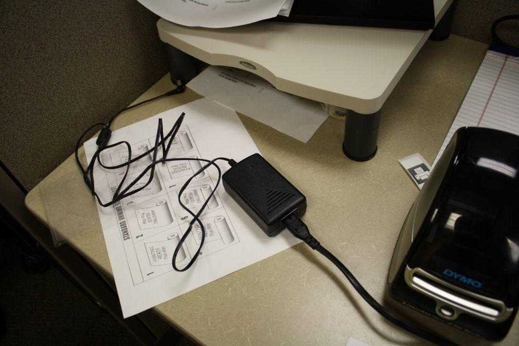plug in your dymo printer