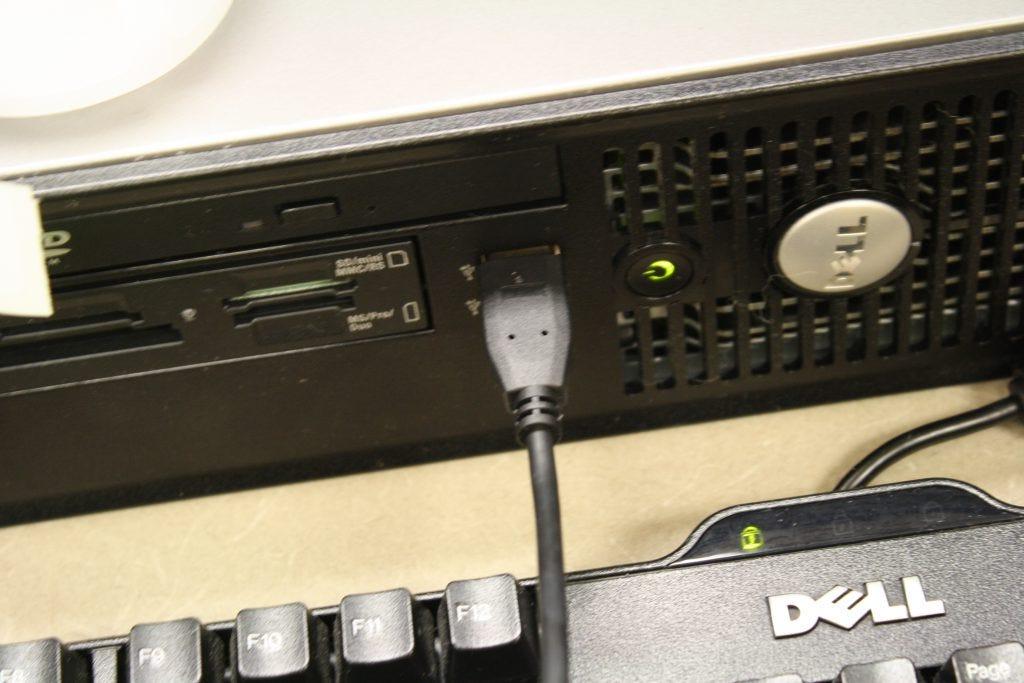 plug usb cable into computer