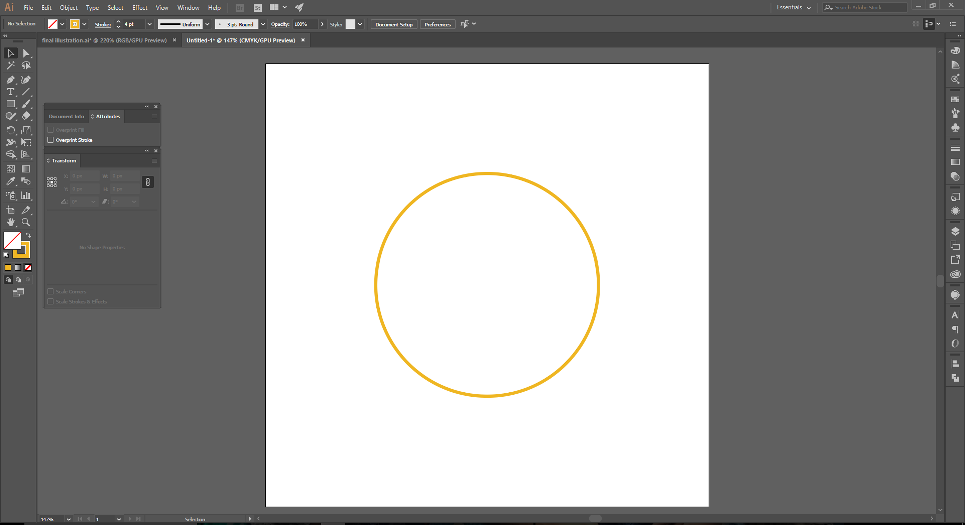 Adobe Illustrator How to Step 1