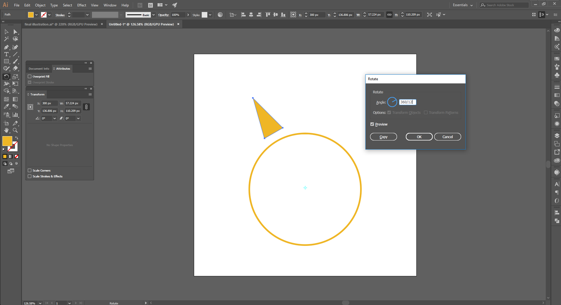 Adobe Illustrator How to Step 6