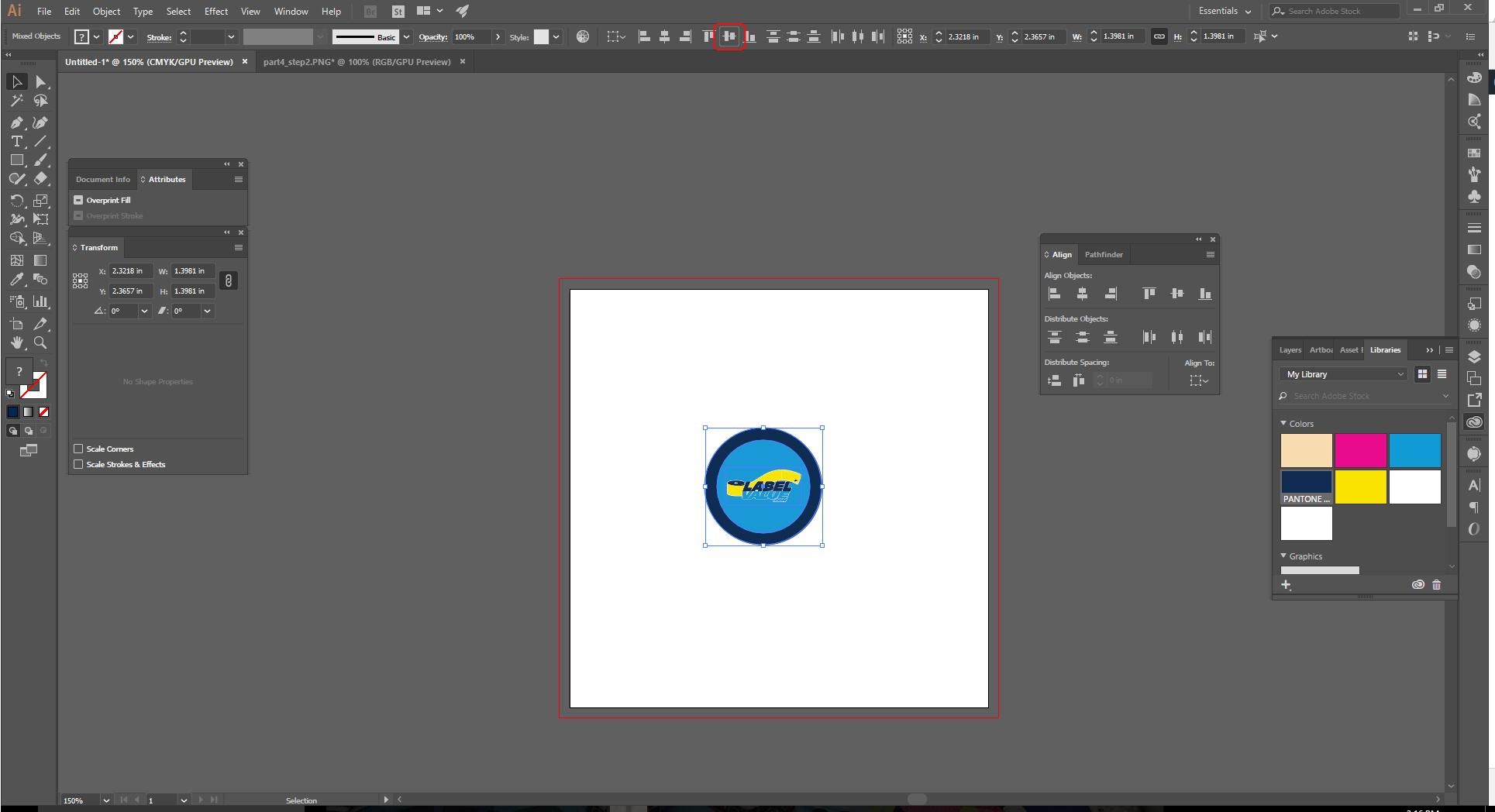 Align Tool Adobe Illustrator Step 5